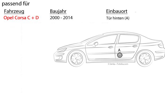 Seiten Heck Lautsprecher Einbauset 10cm Ringe für Opel Astra H Türen hinten