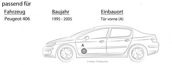 Hertz Lautsprecher 440W 16,5cm X165 Koax incl Einbauset f/ür Peugeot 306 XN 1993-2001